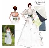 Disegno abito su misura di Annalisa Colonna per Lucia - Stilista personale 1x1