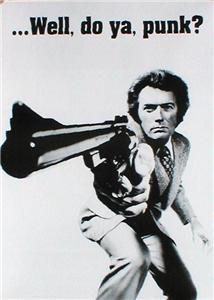 Clint Eastwood Well Do Ya Punk A1 Paper Film Poster