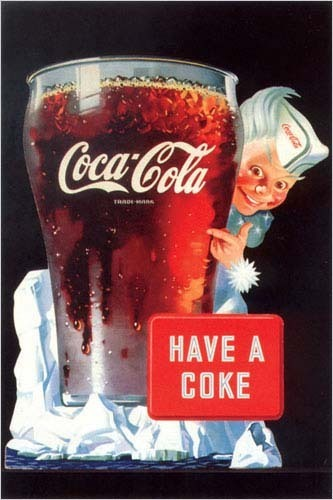 Vintage Advert Drink Coca Cola Maxi Paper Poster