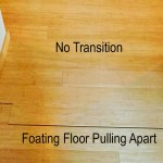 no transition molding floating floor gap