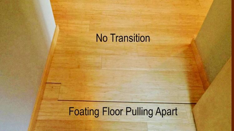 no transition molding floating floor gap