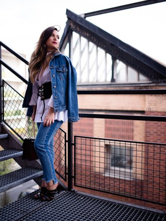 denim outfit fashion OOTD