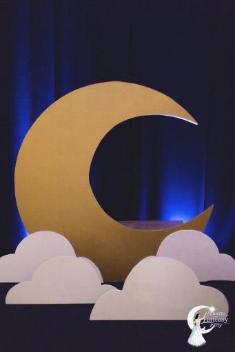 decoration lune photo call poulette party