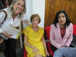 De izq. a derecha: Profesoras Blanca Arbeláez, Helene Zaragoza