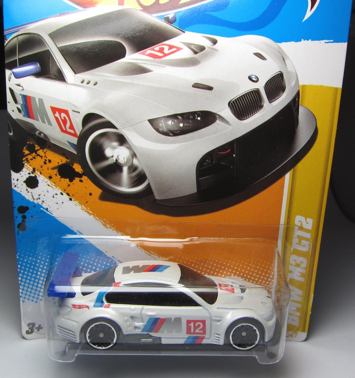 BMW M3 GT2 White # 12 Vintage 2012 Hot Wheels