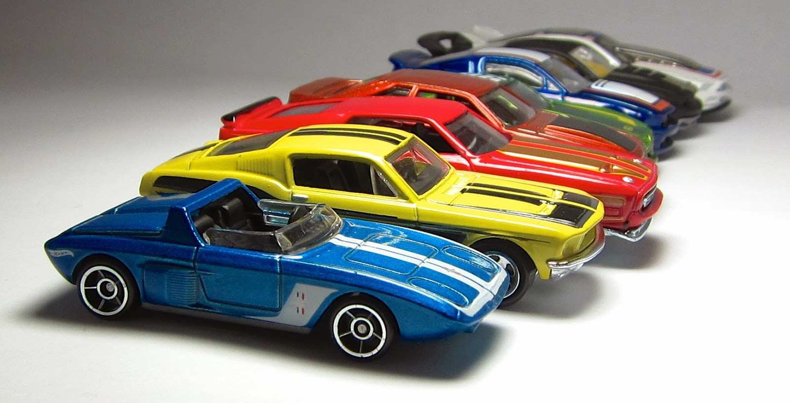 First Look Hot Wheels Ford Mustang 50th Anniversary Set