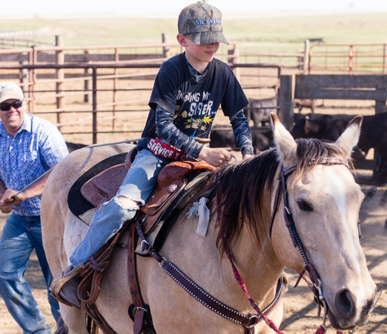 Ranch branding – kid style