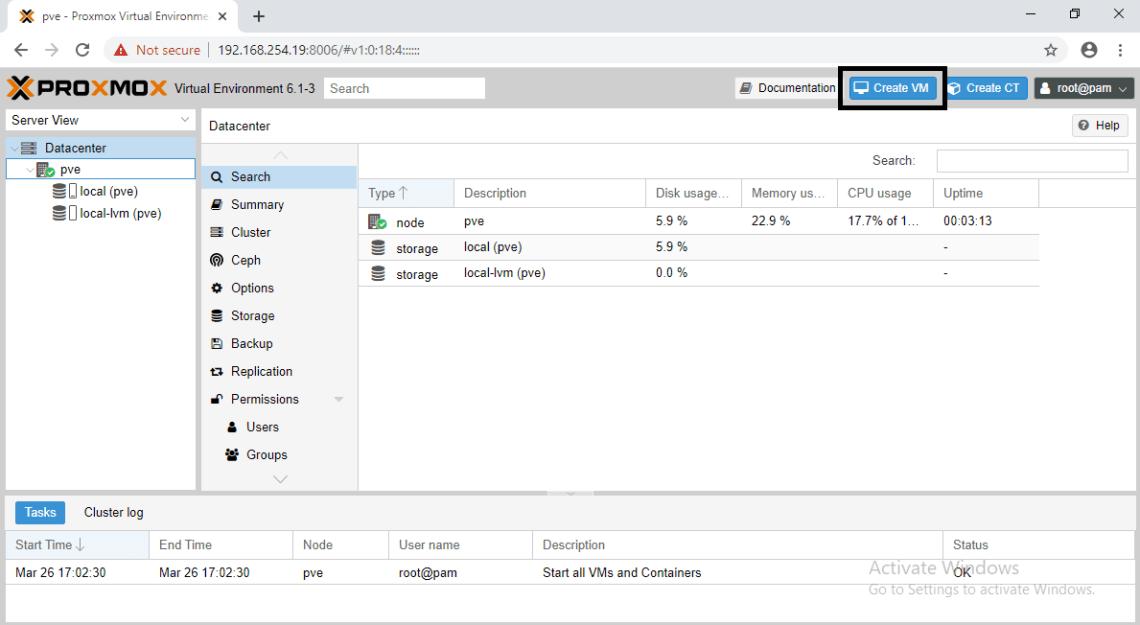Cara Membuat Virtual Machine di Proxmox
