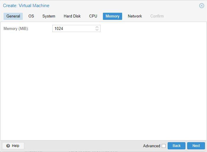 Menentukan jumlah memory untuk dialokasikan ke VM Proxmox