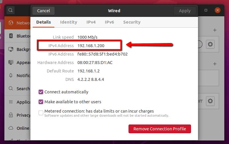 Detail IP Address Ubuntu 20.04