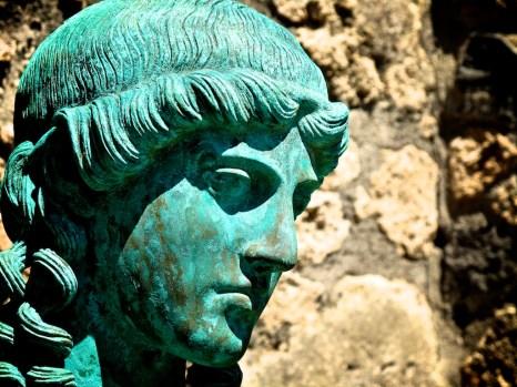Bronze statue at Pompeii