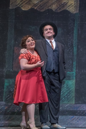 (L to R) Zeky Nadji as Nathan Detroit and Terra Leann Salazar as Miss Adelaide in the Lamont Opera Theatre production of Frank Loesser's GUYS & DOLLS-small