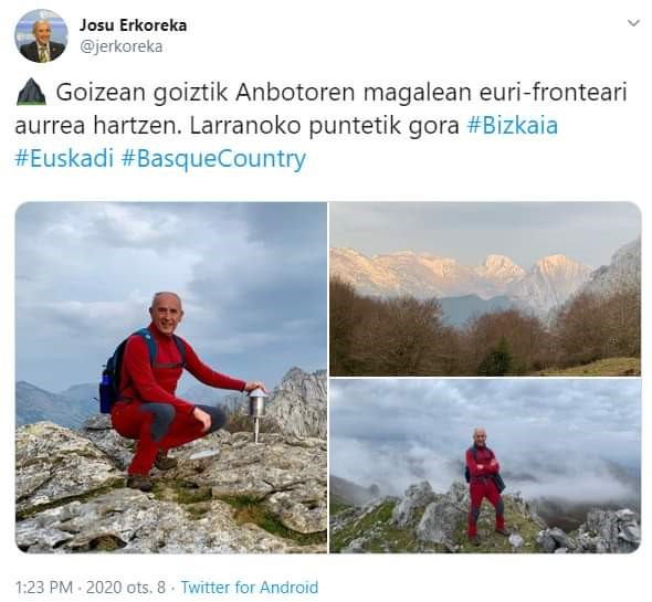 "Erkoreka ""preoupado"" por dos trbajadores desaparecidos"