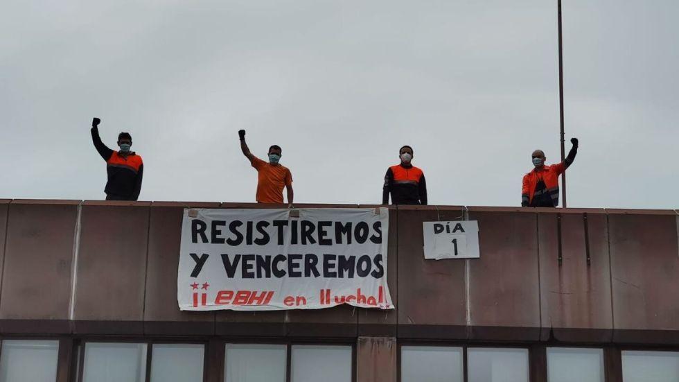 Trabajadores en huelga de hambre