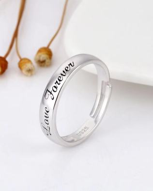 Simple Couple Name Rings