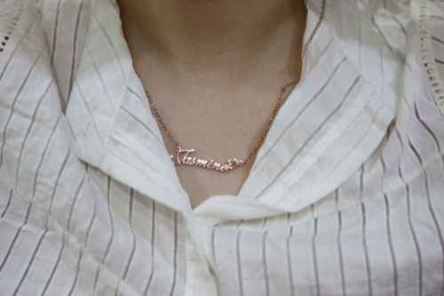 Jasmine Style Name Necklace Silver photo review