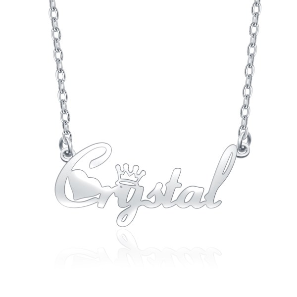 name necklace silver custom your name