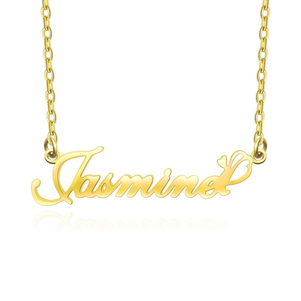 name necklace 18k gold custom your name
