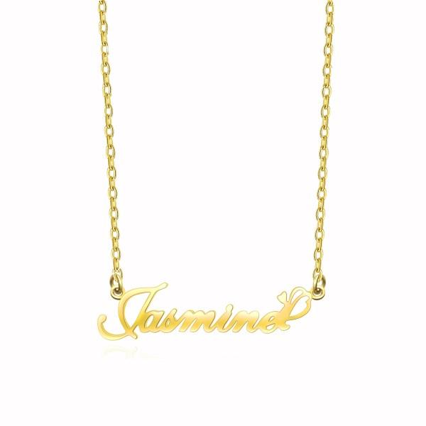 jasmine style name necklace sterling silver 18k gold