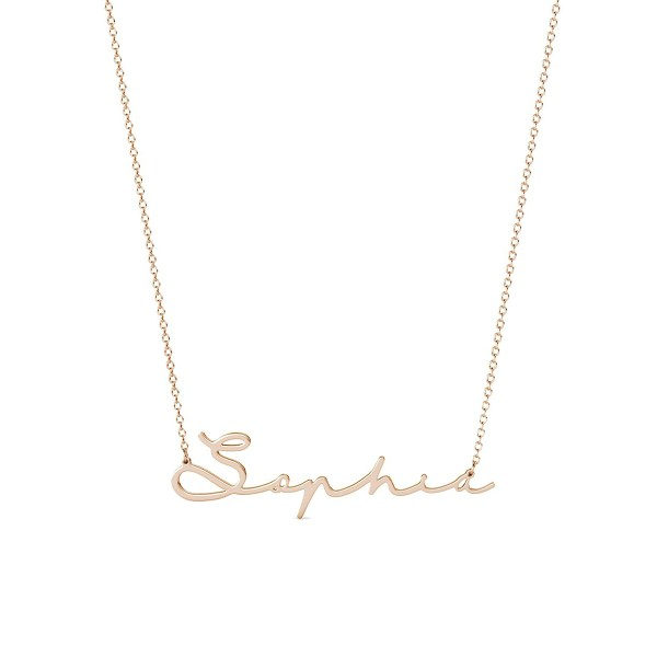Sophie Style II Name Necklace Rose Gold Plated S925