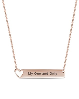 Bar Necklace with Heart