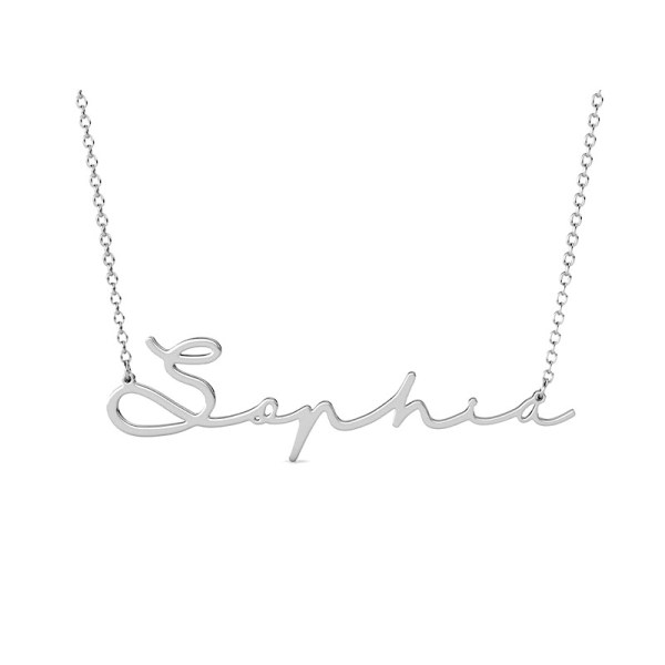 Sophic name necklace personalized platinum plated