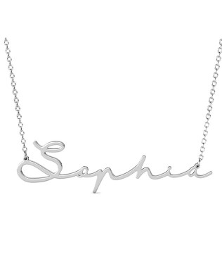 Sophie Style II Name Necklace Platinum Plated S925