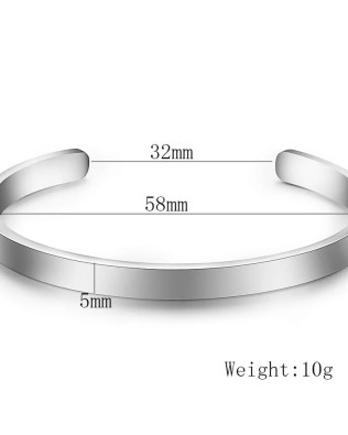CC Engravable Bangle Titanium Steel
