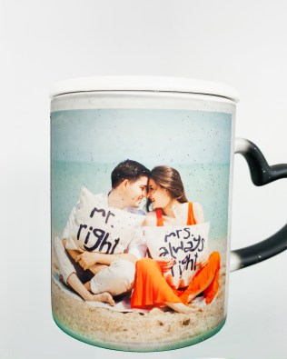 Heat Changing Magic Photo Mug Black