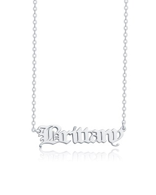 Old English Name Necklace Silver