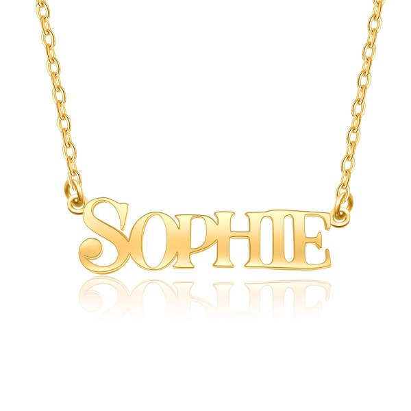 sophie style name necklace 18k gold plated