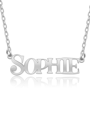 """SOPHIE""Style Name Necklace Silver"