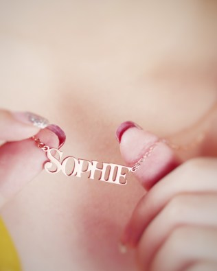 Sophie Style Name Necklace Silver