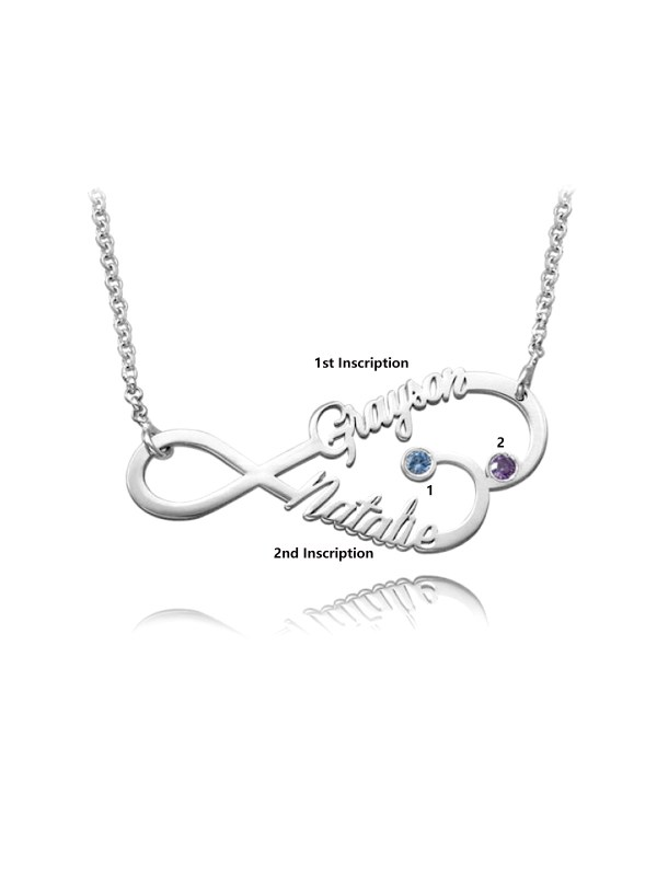 personalized infinity heart name neckalce