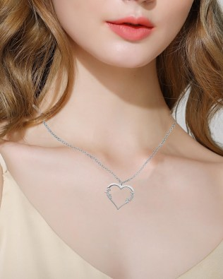 Single Heart Necklace 2 Silver S925
