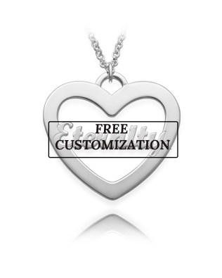 Single Heart Necklace Silver S925 18k Gold Plated