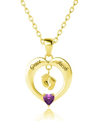 Heart Necklace Silver S925 18k Gold Plated