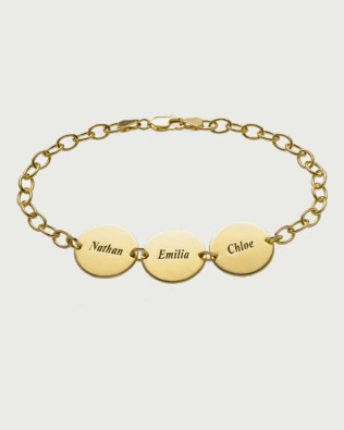 Name Bracelet 18k Gold Plated