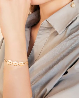 Name Bracelet Rose Gold Plated