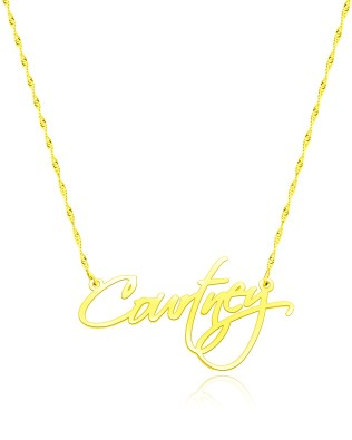 Courtney Style Name Necklace 18k Gold Plated Silver