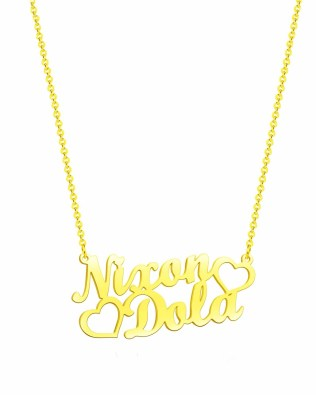 double name necklace sterling silver S925