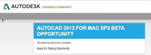 AutoCAD 2013 para Mac SP2 Beta 1