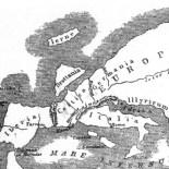 Mapa de Europa según Estrabón siglo I aC