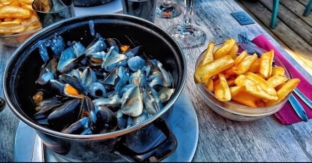 Moules au bleu d'Auvergne