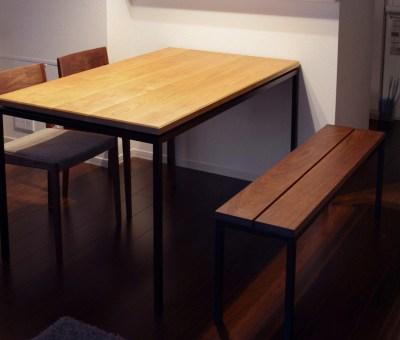 アイアン脚テーブル / 山桜無垢材