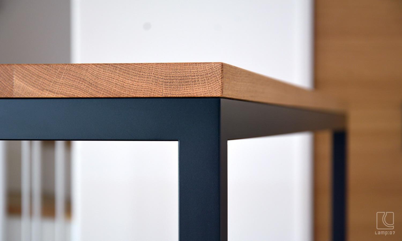 オーダーテーブル/ナラ無垢材+アイアン脚