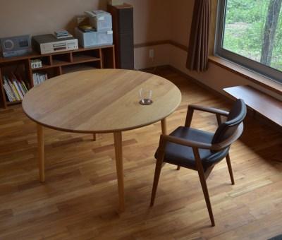 クルミ材 円卓 オーダーテーブル