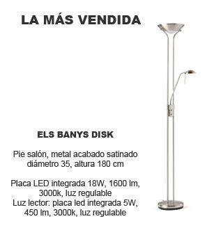 lamparas de pie els banys disk