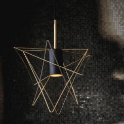 colgante alambre triangular