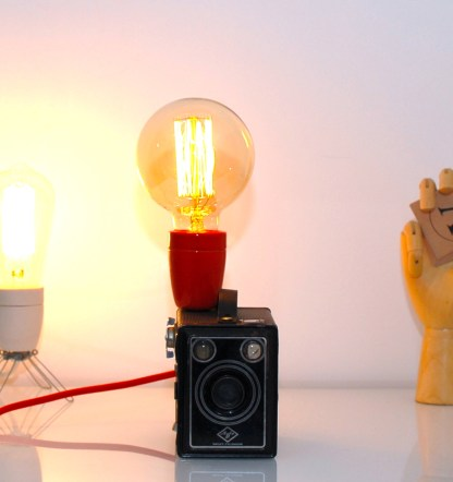 Lampe LAMPDA appareil photo AGFA céramique